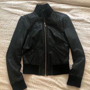 Kenna-T Leather Bomber Jacket
